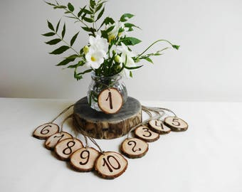 Table Numbers, Wood Table Numbers, Wedding Table Numbers, Rustic Centerpiece, Wedding Decoration, Rustic Table numbers, Wooden Numbers