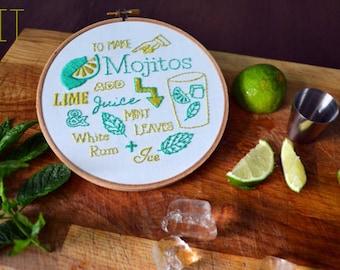 """Embroidery Kit """"Mojito Recipe"""""""