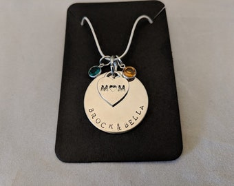 Personalized Hand Stamped Necklace for Mom