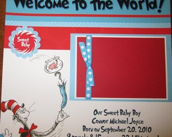 Dr. Seuss Premade Baby Scrapbook 12x12 Album with 20 Pages for your family girl or boy