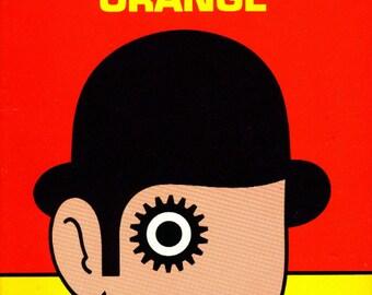 "Vintage Book Cover Print ""A Clockwork Orange"" - Anthony Burgess - 1960s Mod Art - Classic Book Art Print - Literary Art"