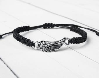 Angel Wing Bracelet, Angel Wing Jewelry, Friendship Bracelet, Angel Jewelry, Angel Bracelet, Gift for Women, Gift for Men, Valentines Gift
