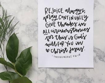 Rejoice Always print