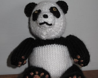 Knitted Giant Panda Toy