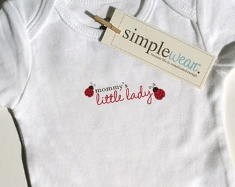 mommy's little lady baby bodysuit