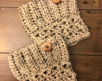 Handmade Crochet Boot Cuffs, Handmade Crochet Boot Toppers