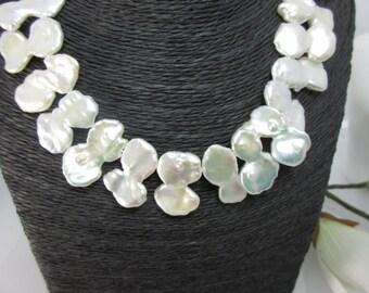 Keshiperlen Premium class, double petals white AAA