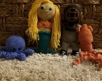 Sinky the deep sea diver crochet