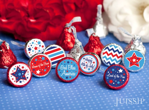 Items similar to 4th of july party decorations Printable hershey ...