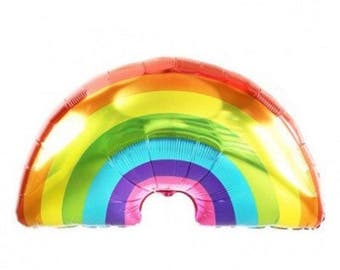 """45"""" rainbow Balloon  / big balloon/ birthday banner/ birthday balloon/ jumbo balloon/baby shower/gender/ / rainbow party/ summer party sun"""