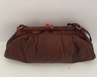 Brown Leather Purse, Leather Purse, Brown Leather Bag, Leather Bag, Shoulder Bag, Leather Handbag, Leather Shoulder Bag, Brown Leather