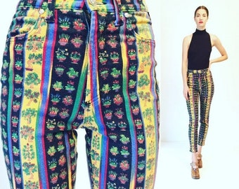 30%OFF Vtg Gianni Versace Jeans Couture Print Pants