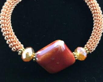 Wire Coiled Bracelet, Coiled Bracelet, Wire Jewelry, Wire Bracelet