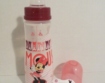 Reborn Doll Bottle + Pacifier (Designs Vary)  MINNIE Set -OOAK 9oz Fake Milk Formula - No DollUse Drop Down Menu to Choose Pacifier Style