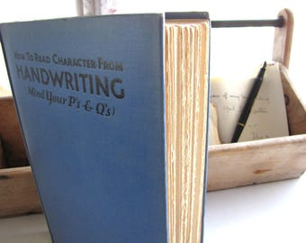 Antique Book Handwriting Analysis How to Read Character from Handwriting Graphology Jerome S. Meyer from AllieEtCie