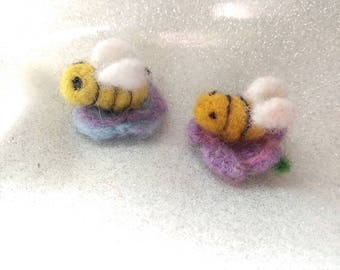 Bumble bee hair clips several styles to customize