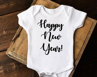 New Year Onesie®, Happy New Year Onesie, Baby New Year shirt, First New Years Onesie, New Years baby, New Years Outfit,