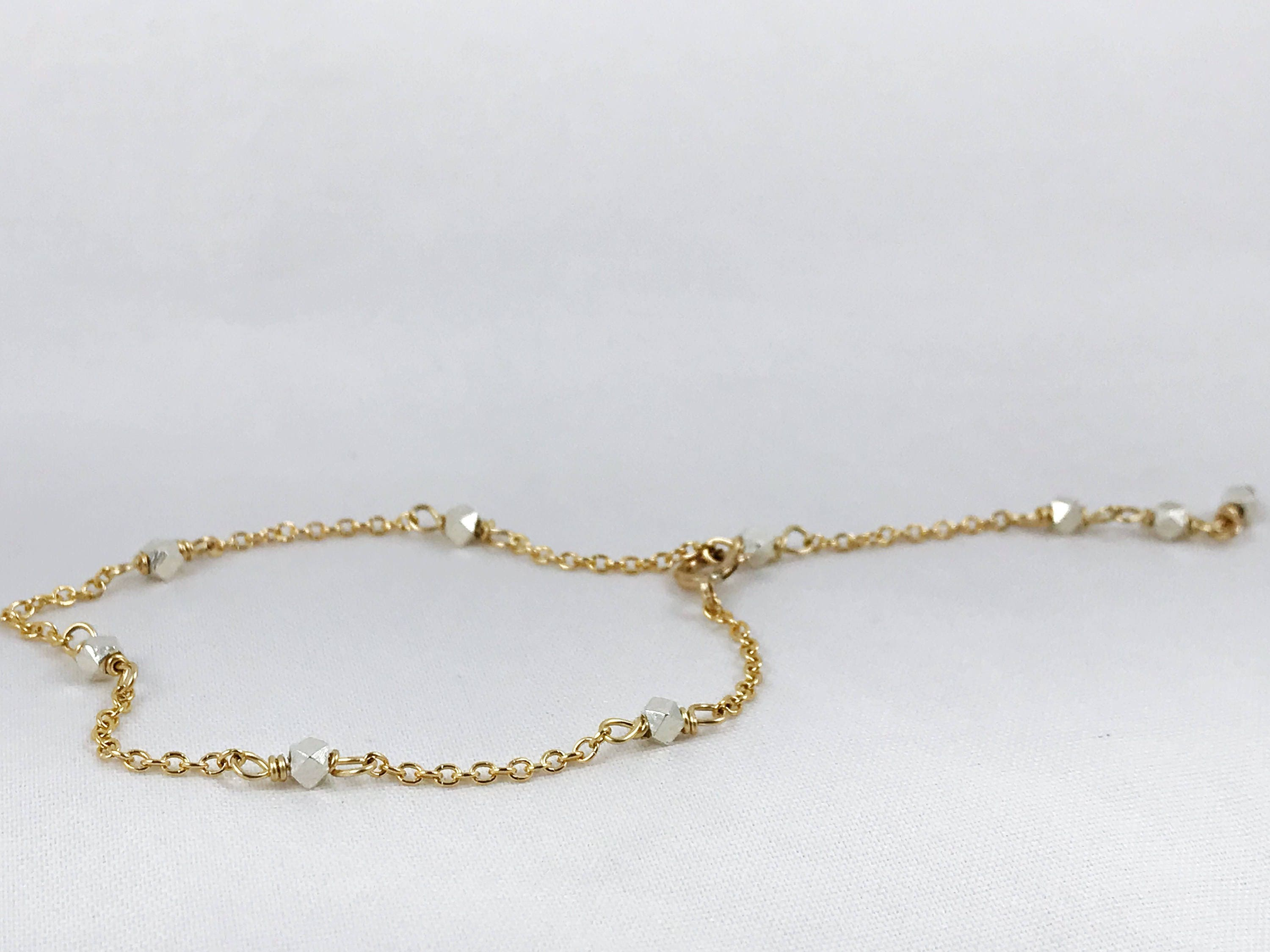 tiny bracelet product original simple jewelry gold summer bead delicate solid anklet