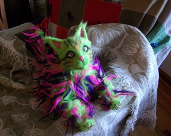Prickle Poof the Cactus Cat OOAK