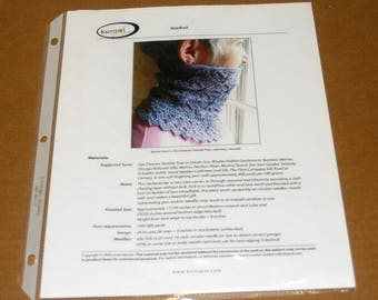 CLEARANCE Printed Hoarfrost Cowl Knitting Pattern, Knitspot, cowl knitting, neck warmer knitting pattern