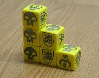Custom made Dice, replacement dice.