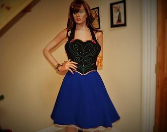 cosplay apron,princess apron Anna Womans Aprons ,Vintage Apron Style