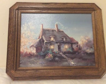 "Marty Bell ""Lullaby Cottage"" Giclee on canvas Limited Edition"
