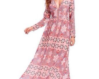 Boho Dress Pink Shades