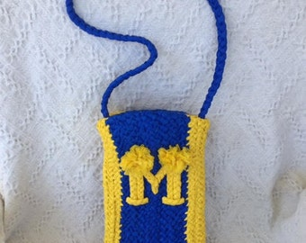 Plastic Braided University of Michigan Shoulder Bag