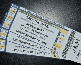 Save the Date Concert Ticket Magnets