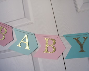 Baby Shower Banner,  Arrow Banner, Boho baby shower decorations,