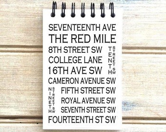Calgary Alberta - Red Mile - Love This Place - Street Name Notebook - Busroll Notepad Journal Custom Gift - Canada The Jitterbug Shop