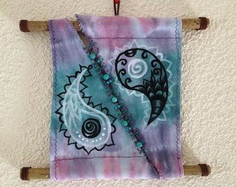 yin yang tiedye wallhanging tapestry decor