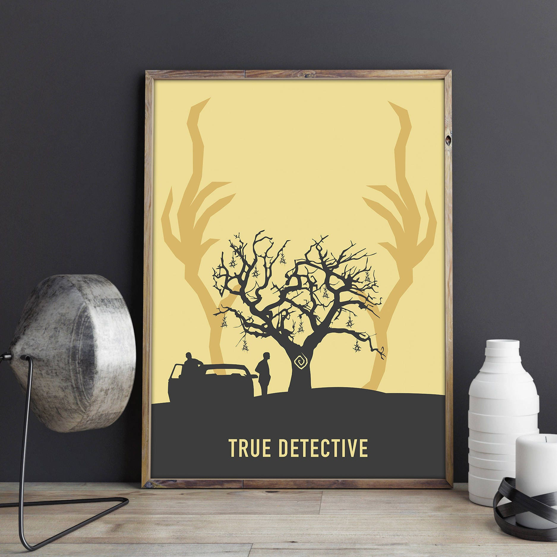 True Detective Poster Minimalist Tv Show Wall Decor True
