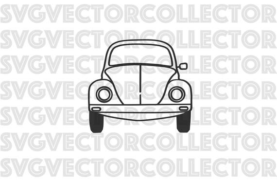 Volkswagen Beetle VW Bug Front Svg Dxf Eps Png Clip Art