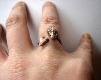 Hedgehog valentine ring