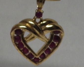 Sterling Silver Pendant Heart shaped charm 925