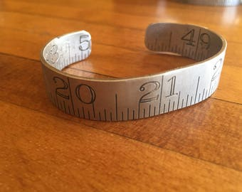 Cuff Bracelet from Vintage Folding Ruler