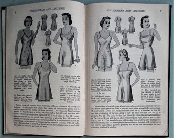 Underwear and Lingerie Parts 1 and 2 Woman's Institute of Domestic Arts & Sciences - vintage 1930s 1940s sewing book women's undies WW2 WWII