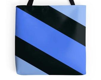 Blue Black Tote Bag, Blue Purse, Blue Bag, Blue Black Bag, Blue Black Purse, Blue Black Bookbag, Blue Black Accessories, Blue Black Handbag