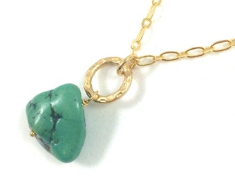 Green Stone Necklace, Stone Pendant Necklace, Stone Boho Necklace Jewelry, Natural Stone Jewelry, Rustic Jewelry, Unique Necklaces for Women