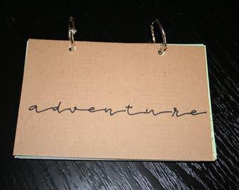 Adventure Travel Journal, Smash Book, Junk Journal, Memory Keeping, Travel Journal, Travelers Notebook, Travel Gift