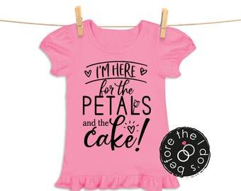 I'm Here ... Petals and Cake Tee for Little Girls /// Flower Shirt, Petal Shirt, Wedding Shirt | #1802