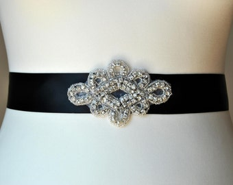 Rhinestone Sash, Bridal Sash,Wedding Dress Sash Belt, Rhinestone Bridal Bridesmaid Sash Belt, Wedding dress sash