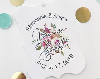 Penelope - Love is Sweet, Floral Wedding/Engagement/Celebration/Event Hang Tags (EC-379-006)