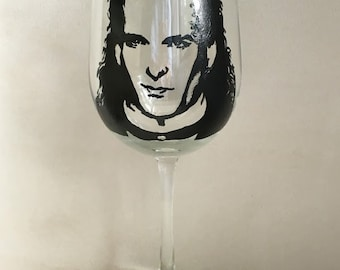 Hand Painted Wine Glass - Michael Bolton