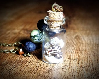 Beach Necklace Message in a Bottle