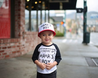 Mama's Boy - Mamas Boy - Youth Trucker Hat - Toddler Trucker Hat - Kids Trucker Hat - Mesh Hat - Snap Back - Boys Hat  - Girls Hat - Hipster