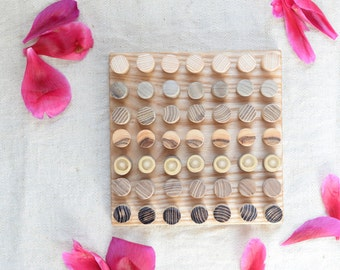 Peg Board Game/ Montessori Toys/ Wooden Game/ Educational Toy/ Montessori Game/ Pegs and Board