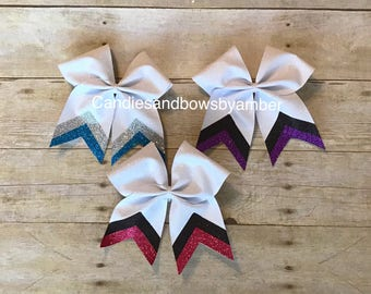 Glitter bow with glitter tail bows